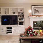 Custom Entertainment Center - Inset style Shaker Doors and drawers - Solid Wood Frame