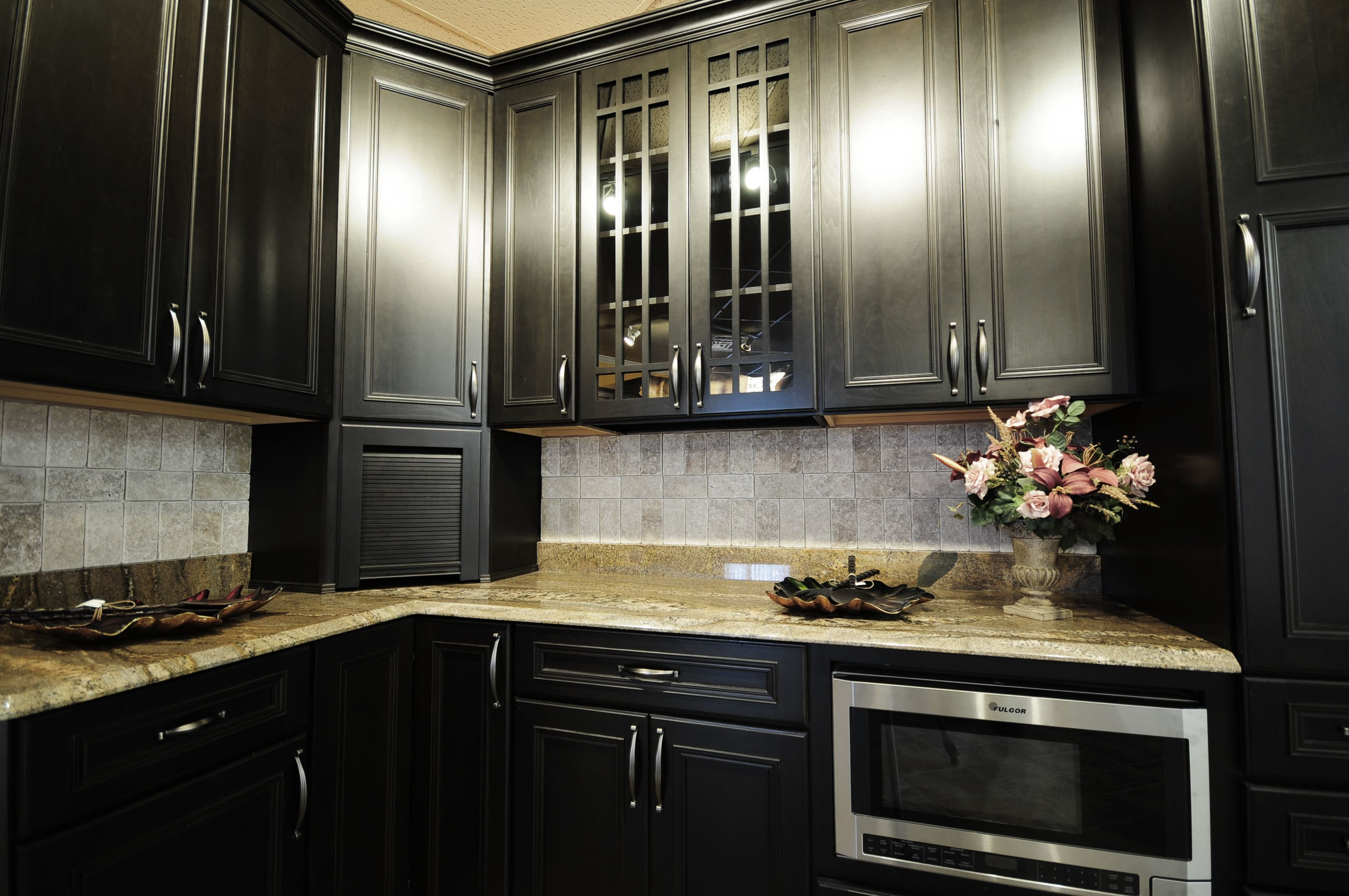 Beau Dark Kitchen Custom Cabinets San Diego ...