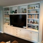 Living Room White Custom Cabinet San Diego