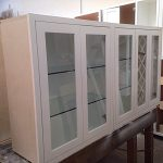White Custom Cabinet with Glass